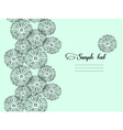 Mint floral seamless background vector image