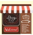flat modern small shop and vector image