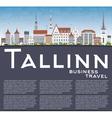 Tallinn Skyline with Gray Buildings Blue Sky vector image