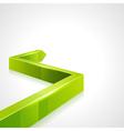 Green graph arrow vector image