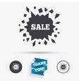 Sale icon Cracked hole symbol vector image