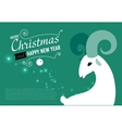 Christmas and New year card for 2015 year vector image