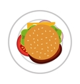 delicious burger isolated icon vector image
