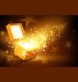 Golden box vector image