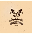 Isolated agricultural logo Cow vector image