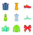 light summer clothes icon set cartoon style vector image