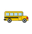 school bus isolated on a white background vector image