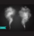 smoke fog transparent effect mist or smog vector image