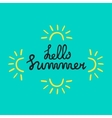 Summer quote Brush pen handwritten vector image