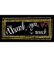 Thank you so mach hand lettering vector image
