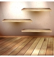 Empty wooden shelf background EPS 10 vector image