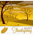 Field of trees Thanksgiving card in format vector image vector image