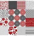 Set seamless monochrome patterns vector image