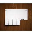 blank ads on the wooden wall vector image