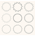 Collection of hand drawn round wreaths vector image