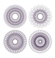 guilloche rosettes vector image vector image