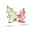 Abstract Christmas winter background for new year vector image