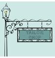tailor shop retro vintage street sign vector image