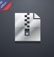 computer zip folder archive icon symbol 3D style vector image