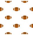 brown leather rugby ball pattern flat vector image