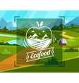 Eco food typography design on background vector image