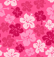Floral seamless pattern of Hawaiian hibiscus vector image