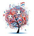 Football tree design vector image