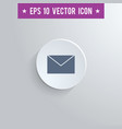 mail envelope symbol icon on gray background vector image