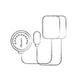 medical tonometer for measuring blood pressure vector image
