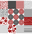 Set seamless monochrome patterns vector image