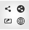 Share icons set flat design vector image