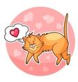 ute valentine cat vector image