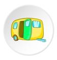 Yellow trailer icon cartoon style vector image