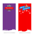 045 Merry Christmas banner background Collection vector image