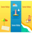 Summer Holidays Banner with Lighthouse vector image