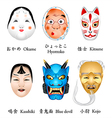 Japan masks I vector image