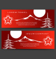 japan pagoda and fuji mount banners vector image