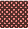 seamless polka dots texture background vector image vector image