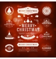 Christmas Decorations Design Elements vector image vector image