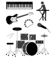 music icon set vector image