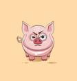 isolated Emoji character cartoon Pig sticker vector image