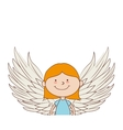 angel girl wing icon graphic vector image