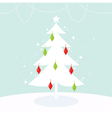 Beautiful Christmas and New Year greeting card vector image