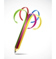 Colorful uncapped pencil isolated vector image