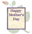 grunge mothers day background vector image