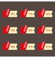 Set stickers discounts vector image