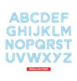 Type font stripes retro vintage vector image