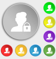 user is blocked icon sign Symbol on eight flat vector image