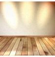 Vintage wooden room floor EPS 10 vector image