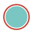 circle seal frame icon vector image